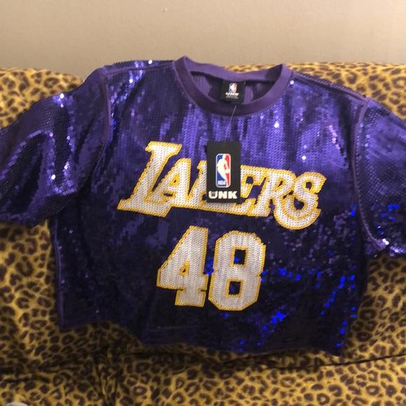 670f7f99d28 Topshop Tops | Lakers Sequin Purple Tee | Poshmark